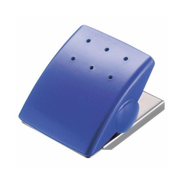 (まとめ) ライオン事務器 マグネットクリップW43×D53×H33mm ブルー MC-1B 1個 〔×30セット〕