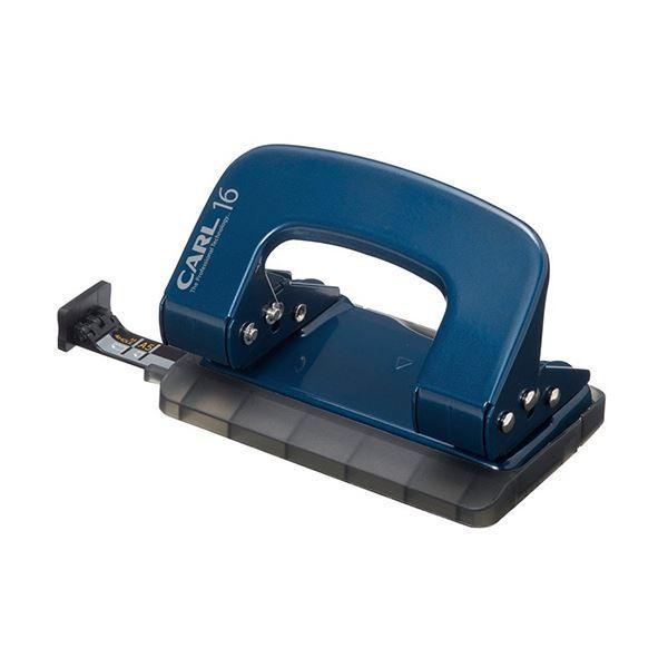 (まとめ)カール事務器 2穴パンチ ALISYS16枚穿孔 ブルー LP-16-B 1台〔×10セット〕
