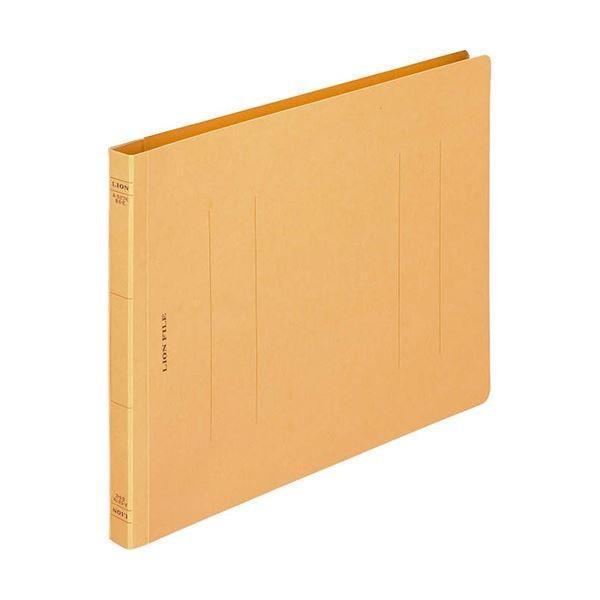 (まとめ)ライオン事務器 フラットファイル(環境)樹脂押え具 B5ヨコ 150枚収容 背幅18mm 黄 A-527KB5E 1冊〔×50セット〕