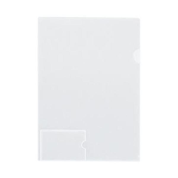 (まとめ)コクヨ クリヤーホルダー(名刺ポケット付)A4 透明 フ-MP750T 1セット(5枚)〔×20セット〕