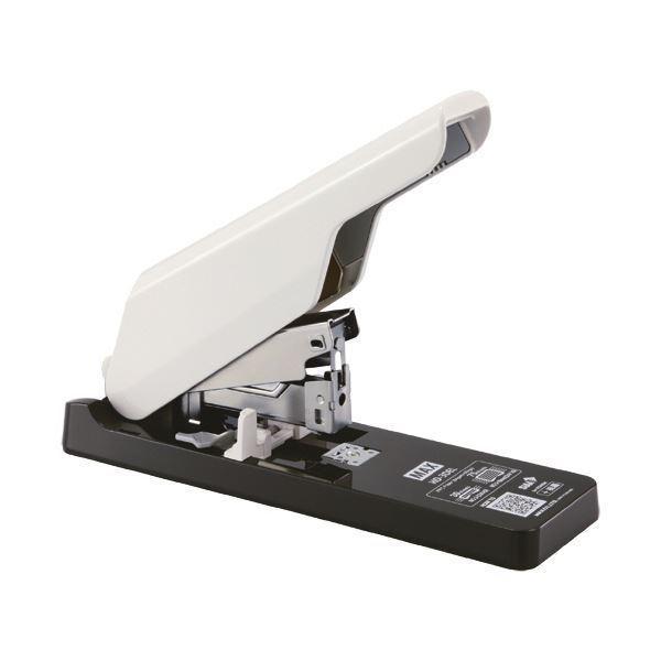 (まとめ)マックス 軽とじ中型ホッチキス75枚とじ ホワイト HD-3DEL 1台 〔×3セット〕
