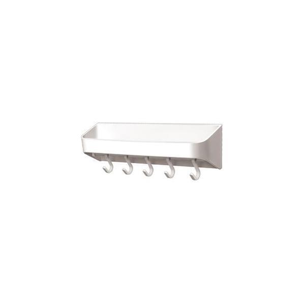 〔18個セット〕 お風呂収納用 洗剤ラック&フック 〔幅30.4×奥行6.6×高さ9.8cm〕 マグネット取付け式 『アスベル RAXE』