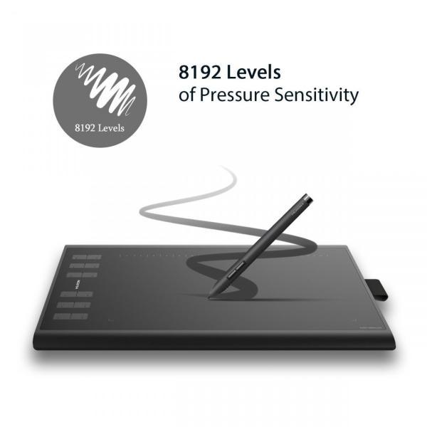 5064 HuionNew 1060PLUS ペンタブレット 筆圧8192レベル 12個ショートカットキー 5080LPI 233PPS 充電式ペン お絵かき WIN・MAC PEN TABLET|windoor128|06