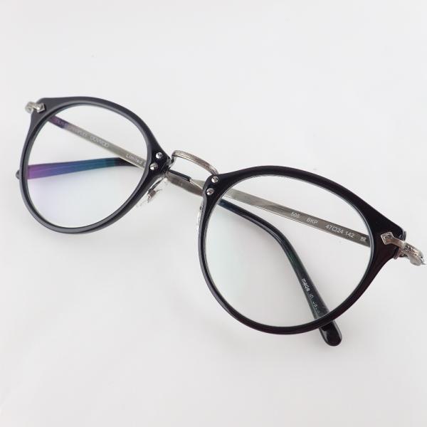 ○OLIVERPEOPLESオリバーピープルズ505BKPLimitedEdition雅メガネフレーム眼鏡47□24142ブラッ