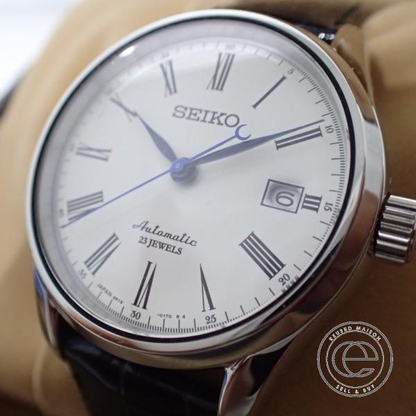 新品同様◯SEIKO セイコー SARX019 6R15-02P0 PRESAGEプレサージュ自動巻き 腕時計 シルバー メンズ