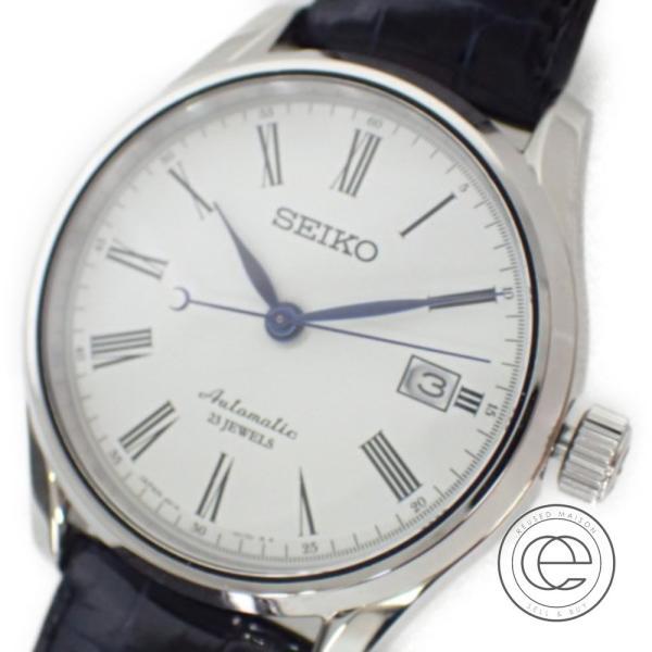 美品   SEIKOセイコー SARX019 6R15-02P0 PRESAGEプレサージュ 白文字盤 自動巻き 腕時計 メンズ