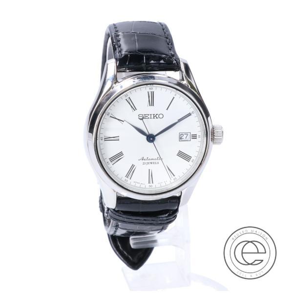 SEIKOセイコー SARX019 6R15-02P0 プレサージュ バックスケルトン 琺瑯文字盤 自動巻き腕時計 メンズ