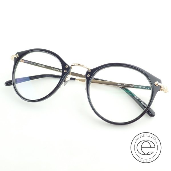 OLIVERPEOPLESオリバーピープルズ505雅リミテッドエディション度入りレンズコンビフレーム眼鏡47□24142ブラック