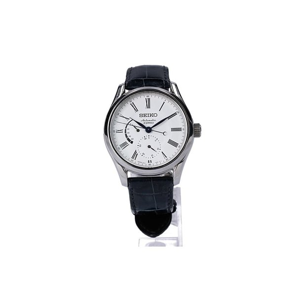SEIKOセイコー SARW011  PRESAGE プレサージュ 琺瑯ダイヤル 29石 メカニカル 自動巻き腕時計 シルバー メンズ