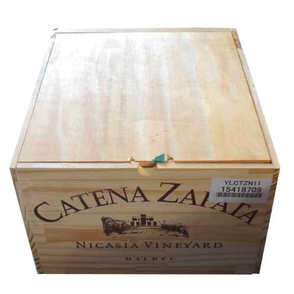 ワイン木箱  6本用  大サイズ  送料1個口で2箱まで  商品代引利用不可、離島へのお届け不可  他の商品との同梱不可  家飲み  巣ごもり