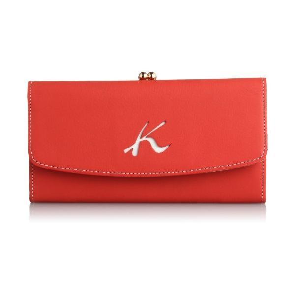 キタムラ 長財布天然素材独特の風合いPH0384レッド/ホワイトステッチ 赤 70901