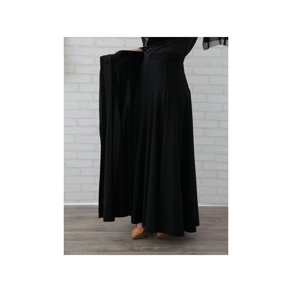 コーラス衣装や発表会衣装に柔らかくほんの少し光沢のある巻きロングスカート。ウエスト:65cm〜72cm前後 黒内側に2箇所鍵ホック付き。黒|wing12|05