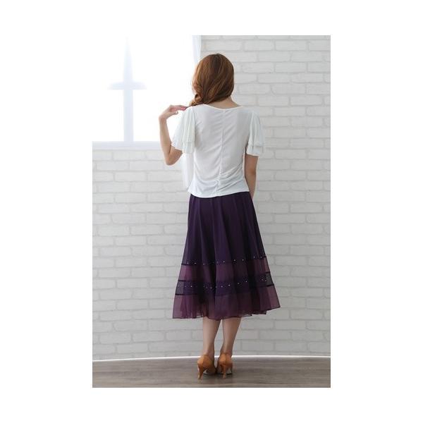 社交ダンス ダンススカート レディース ダンスウェア 衣装 MからLサイズ 紫|wing12|04