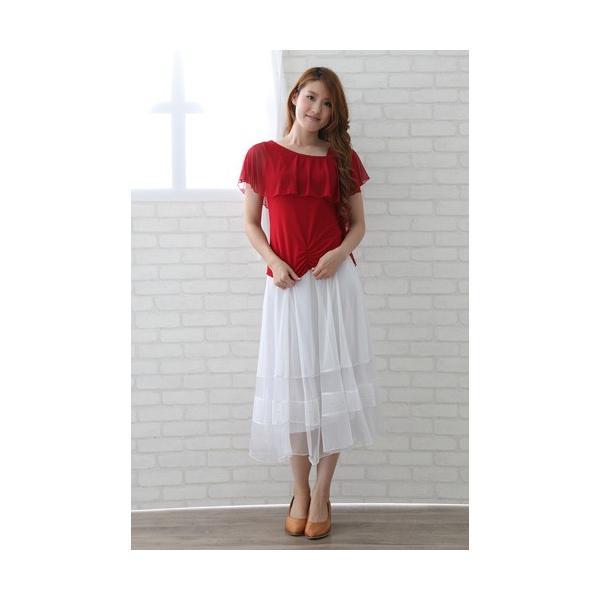 社交ダンス ダンススカート レディース ダンスウェア 衣装 MからLサイズ 白|wing12|04