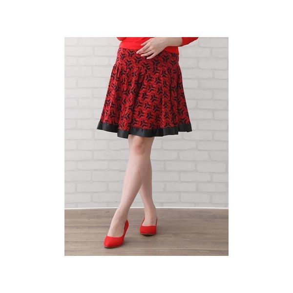 社交ダンス ダンス コーラス 衣装 カラオケ 演奏会 スカート レディース ダンスウェア Mサイズから Lサイズ すそリボンテープが可愛ダンススカート 赤黒|wing12|04