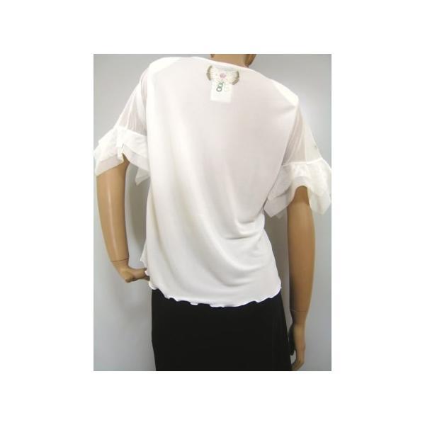 社交ダンス コーラス衣装 ダンスストップス レディース ダンスウェア 衣装  白/Lサイズ|wing12|02
