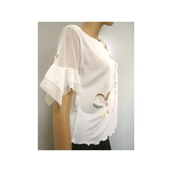 社交ダンス コーラス衣装 ダンスストップス レディース ダンスウェア 衣装  白/Lサイズ|wing12|03