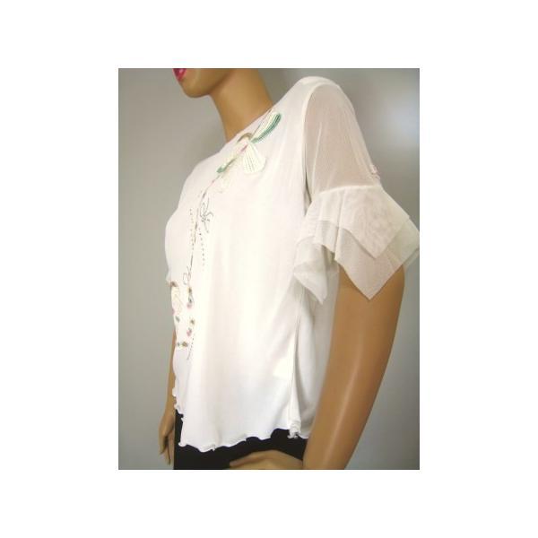 社交ダンス コーラス衣装 ダンスストップス レディース ダンスウェア 衣装  白/Lサイズ|wing12|04