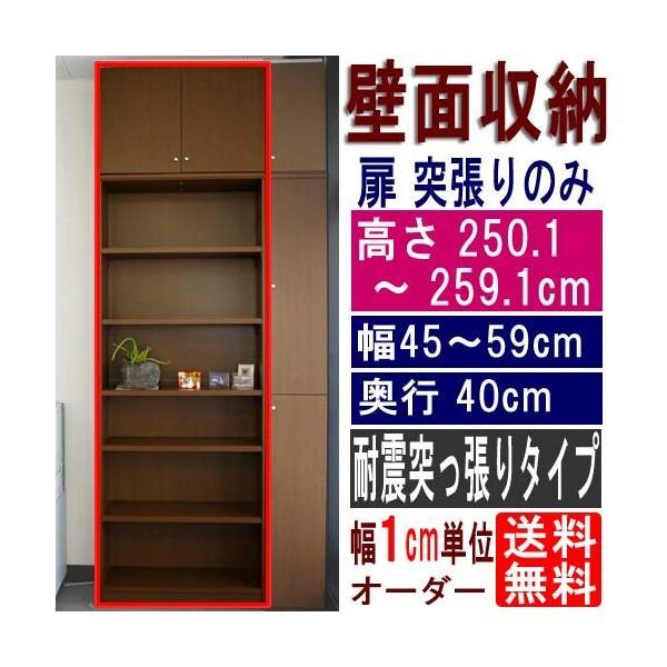 オープンリビング収納 文庫本棚 高さ250.1〜259.1cm幅45〜59cm奥行40cm