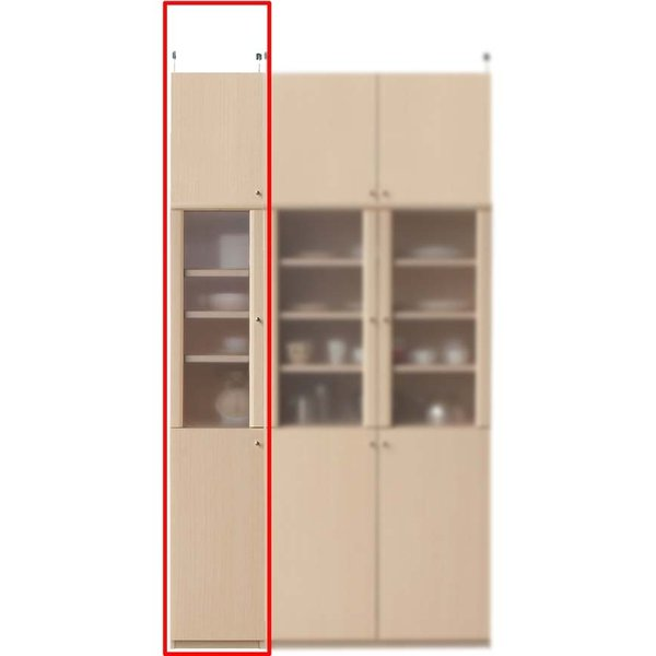 突っ張り耐震食品棚 食器棚、キッチンボード その他 高さ232〜241cm幅30〜44cm奥行40cm厚棚板(耐荷重30Kg)