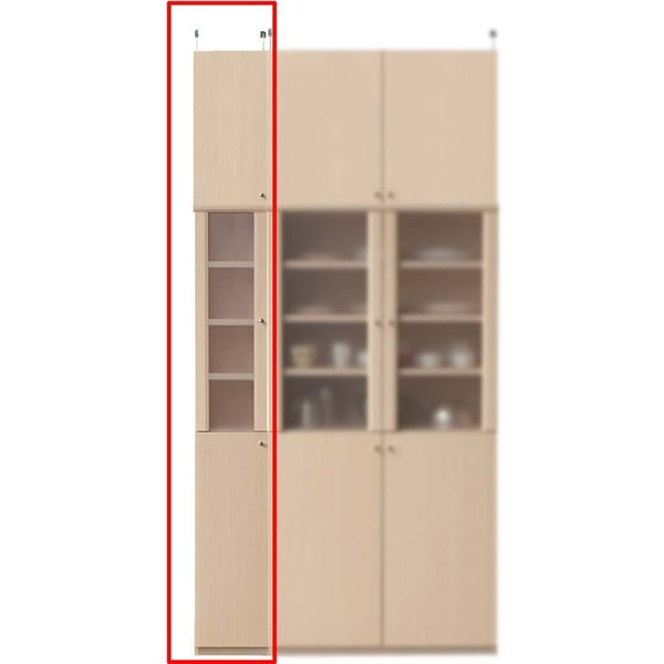 奥深キッチンスリムストッカー キッチンラック 高さ241〜250cm幅25〜29cm奥行46cm厚棚板(耐荷重30Kg)