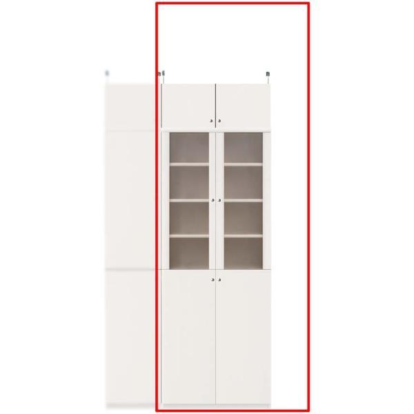 扉付きカップボード キッチンワゴン 高さ208〜217cm幅60〜70cm奥行19cm
