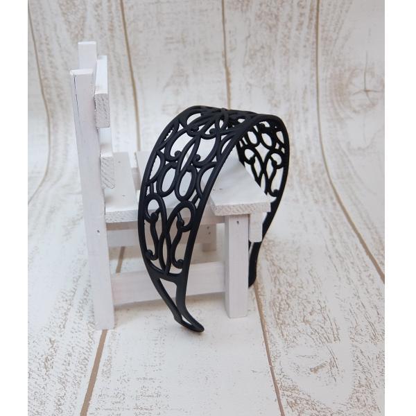 透かし編みカチューシャ 5cm 透かしレース模様 幅広 ヘアバンド アラベスクレース|wink-yafuu-store|10
