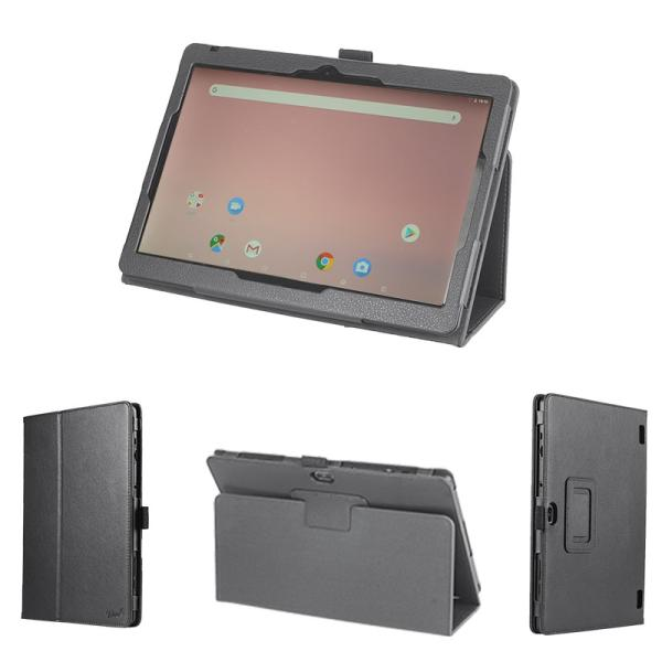 wisersタブレットケースKEIAN恵安KI-R1010インチタブレット専用ケースカバー 2019年新型 全2色ブラック・ダー