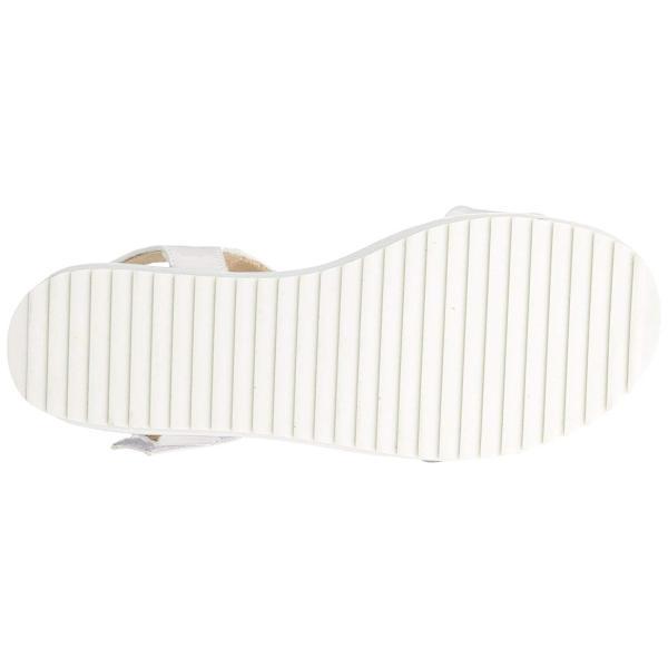 メヌエ 歩きやすい 走れる レディース シンプル 厚底 ストラップ スポーツサン m24511 ホワイト/エナメル調 S/M/L表示 SS(