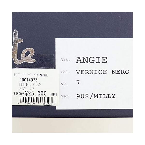 フェランテ レディース エナメル フラットパンプス ANGIE VERNICE NERO 908/MILLY(ブラック)4×ブラック(C05