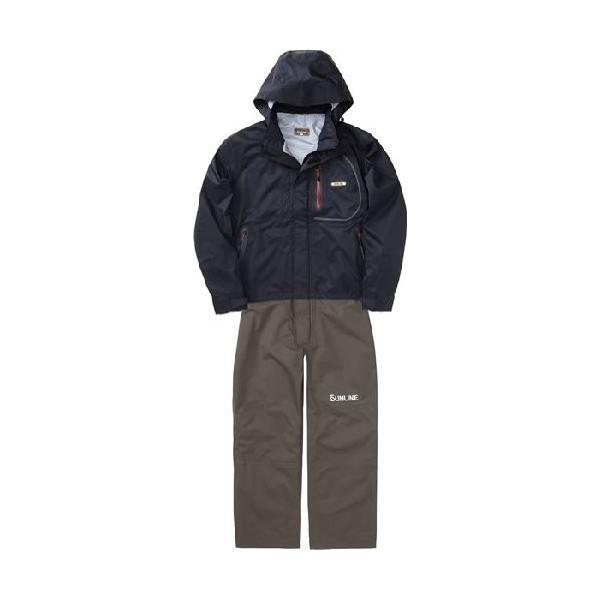 サンライン(SUNLINE) レインウェア サロペットスーツ LL ブラック SCW-6110