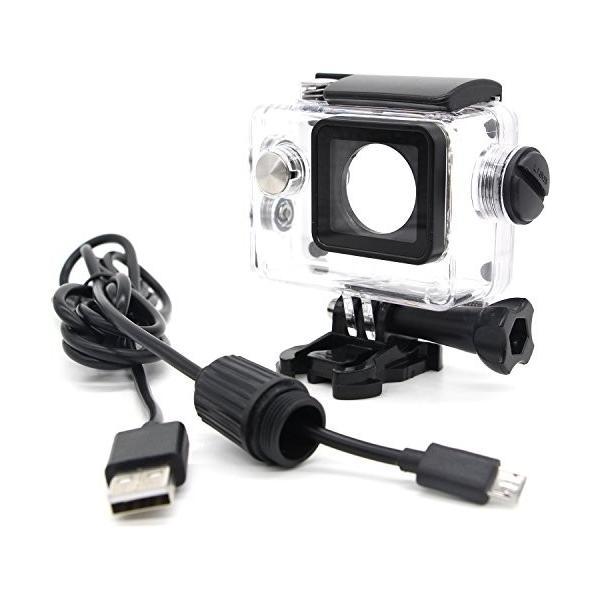 ウェアラブルカメラ汎用式 オートバイ用 防水ハウジングケース 常時給電充電ケーブル同梱 バイク/車アクセサリー LANCERTECH正規品