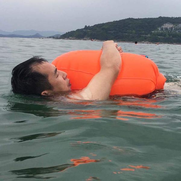防水ドライバッグ + 防水スマホケース 安全な水泳用, トライアスロン 水泳ボードインフレータブルスイムブイプール/ビーチ用 wish4545 02