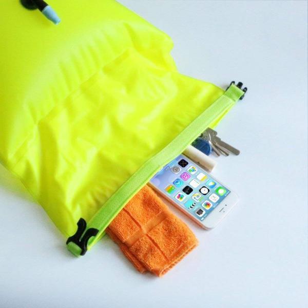 防水ドライバッグ + 防水スマホケース 安全な水泳用, トライアスロン 水泳ボードインフレータブルスイムブイプール/ビーチ用 wish4545 04