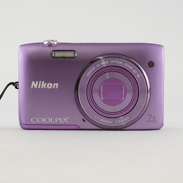 COOLPIX S3500 Nikon USED美品 デジタルカメラ 本体+バッテリーのみ 光学7倍ズーム 2005万画素 完動品 中古 CP5036