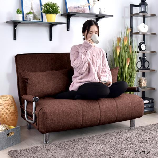 ソファ ソファベッド 洗えるソファー幅120cmキャスター付き セミダブル カバーリング  安いコンパクトソファー2人掛け 折りたたみ おしゃれ 開梱設置無料|with-sofa|11