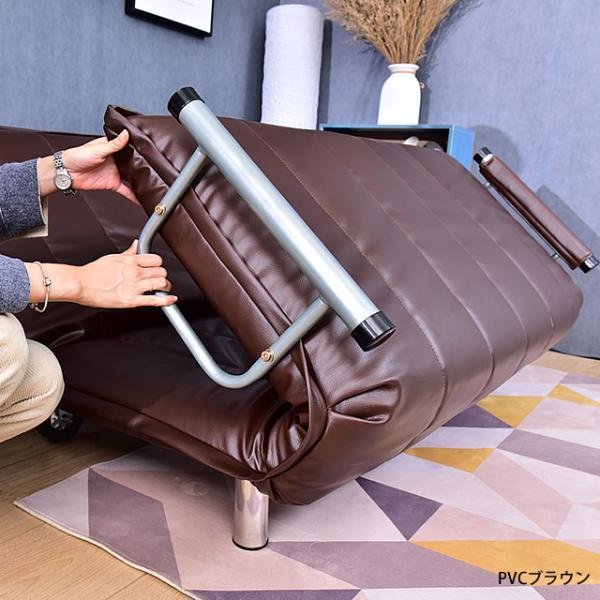 ソファ ソファベッド 洗えるソファー幅120cmキャスター付き セミダブル カバーリング  安いコンパクトソファー2人掛け 折りたたみ おしゃれ 開梱設置無料|with-sofa|15