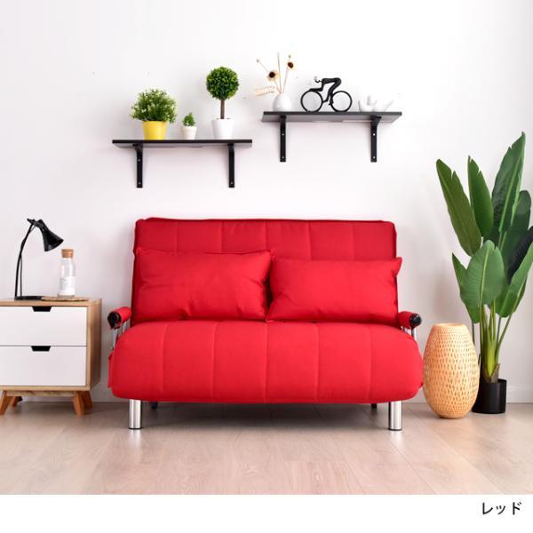 ソファ ソファベッド 洗えるソファー幅120cmキャスター付き セミダブル カバーリング  安いコンパクトソファー2人掛け 折りたたみ おしゃれ 開梱設置無料|with-sofa|16