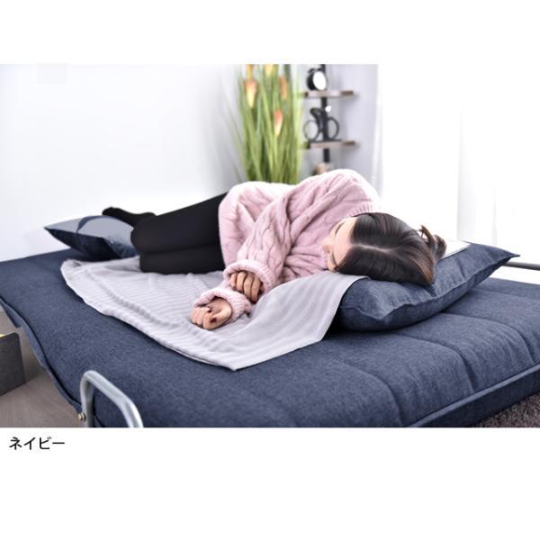 ソファ ソファベッド 洗えるソファー幅120cmキャスター付き セミダブル カバーリング  安いコンパクトソファー2人掛け 折りたたみ おしゃれ 開梱設置無料|with-sofa|05