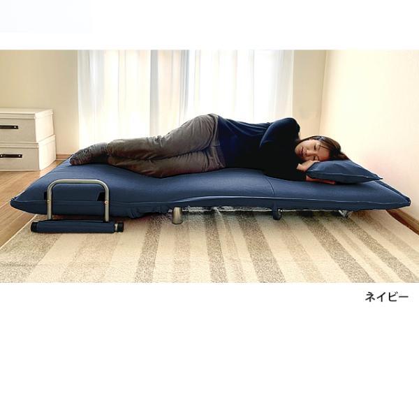ソファ ソファベッド 洗えるソファー幅120cmキャスター付き セミダブル カバーリング  安いコンパクトソファー2人掛け 折りたたみ おしゃれ 開梱設置無料|with-sofa|07