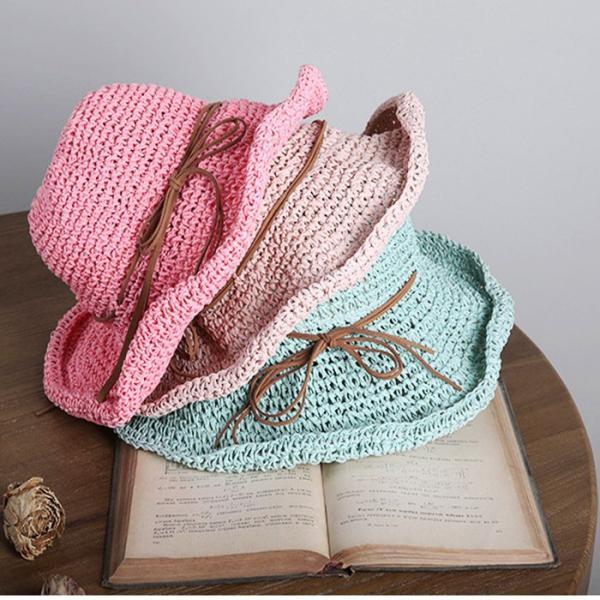 帽子 夏 レディース uvカット コマ編み キャペリン 麦わら 大人かわいい 折りたたみ つば広 中折れ帽 ハット 調節可能 小顔効果 おしゃれ|withbambistore|12