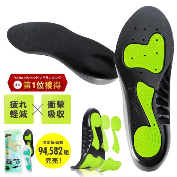 インソール アーチサポート 偏平足 土踏まず 衝撃吸収 反発 立体 3D 中敷き 疲れにくい 立ち仕事 スニーカー スポーツ o脚 ランニング靴 メンズ レディースの画像