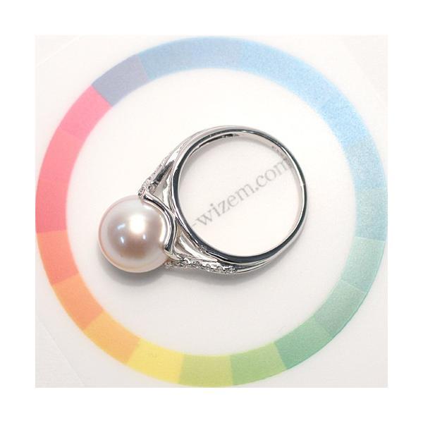パール指輪 アコヤ真珠10.5mmプラチナリング サイズ12 高機能ケース入り 幅がしっかりあるデザイン 冠婚葬祭|wizem|06
