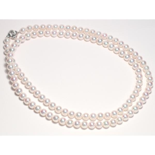 パールネックレスロング アコヤ真珠7-7.5mmネックレス2本分82.5cmロング1連や2連としても使用|wizem