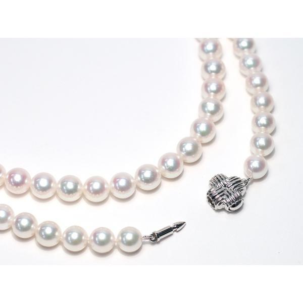 パールネックレスロング アコヤ真珠7-7.5mmネックレス2本分82.5cmロング1連や2連としても使用|wizem|02