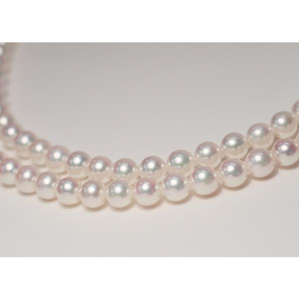 パールネックレスロング アコヤ真珠7-7.5mmネックレス2本分82.5cmロング1連や2連としても使用|wizem|03