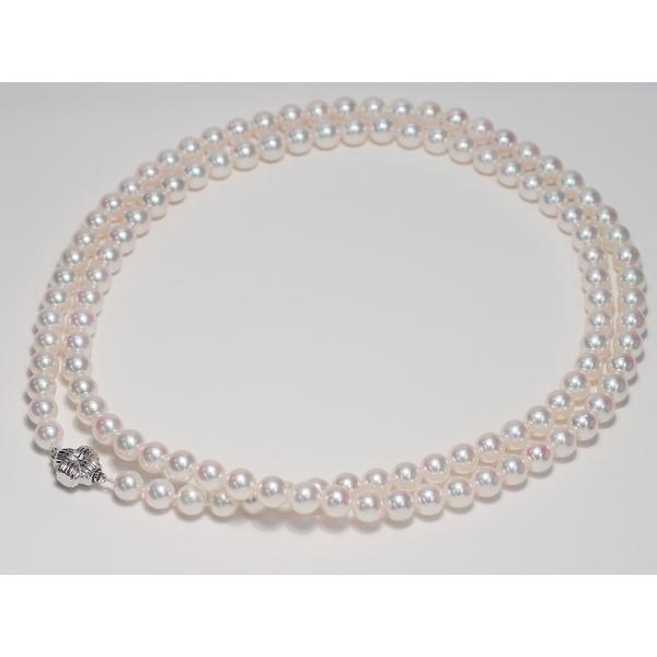 パールネックレスロング アコヤ真珠7-7.5mmネックレス2本分82.5cmロング1連や2連としても使用|wizem|04