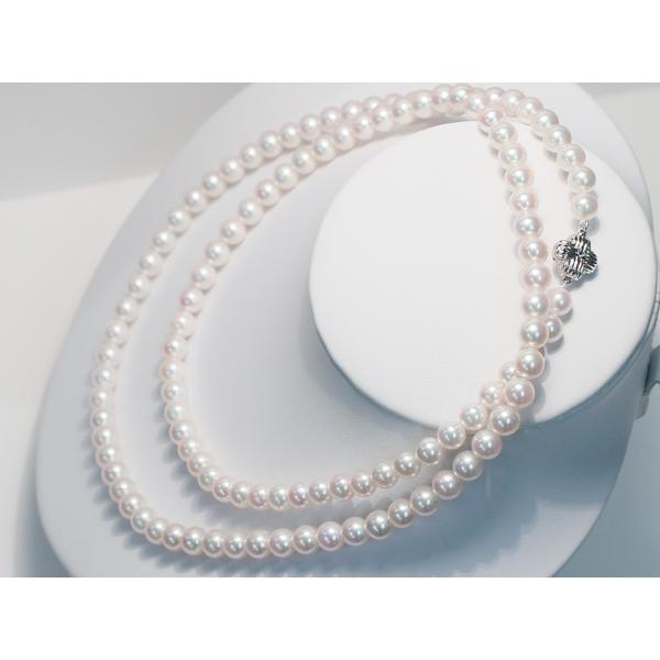 パールネックレスロング アコヤ真珠7-7.5mmネックレス2本分82.5cmロング1連や2連としても使用|wizem|05