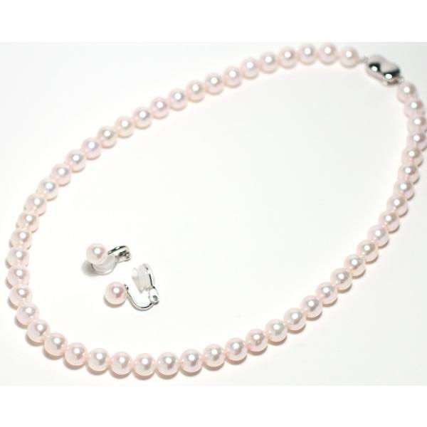 パールネックレス 冠婚葬祭  アコヤ真珠7.5-8mmネックレスとイヤリングの2点セット|wizem|02