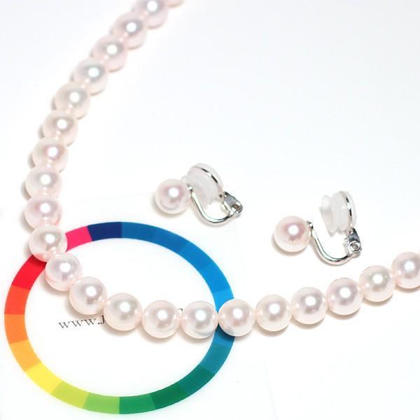 パールネックレス 冠婚葬祭  アコヤ真珠7.5-8mmネックレスとイヤリングの2点セット|wizem|03